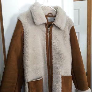 ASOS Faux Suede Sherpa Coat